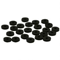 Pack of 24 Acousti AP-1003W-B Black Anti-Vibration Silicone Washers